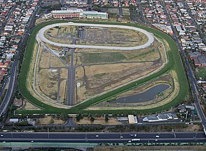 Moonee Ponds, Victoria - Aerial view of the Moonee Valley Racecourse
