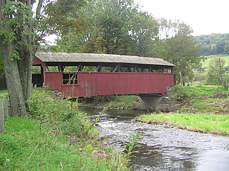 Moreland Township, Lycoming County, Pennsylvania - The Lairdsville Covered Bridge over Little Muncy Creek in Moreland Township is one of three remaining in Lycoming County.