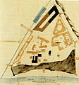 Moscow Kremlin, 1812 damage, plan by Yegotov, 1812.jpg