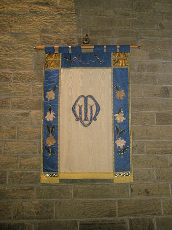 English: Mothers' Union banner within St Andre...