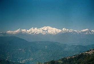 Darjeeling - View of Kanchengjunga as seen from Darjeeling