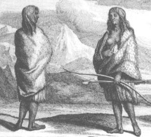 Pericúes - California women, probably Pericúes, 1726
