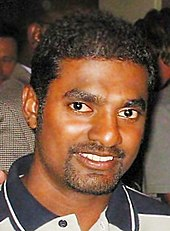 A portrait of Muttiah Muralitharan