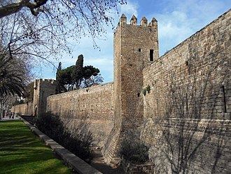 History of Barcelona - The remaining section of the medieval walls