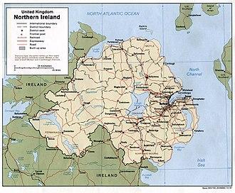 Karte von Nordirland