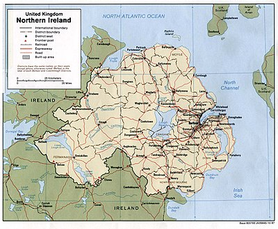 Mapa Irlanda Del Norte.Geografia De Irlanda Del Norte Wikiwand