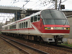 "Meitetsu Nagoya Main Line - A Meitetsu 1000 series ""Panorama Super"" EMU on a limited express service"
