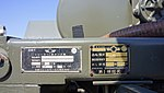 Name plate of JASDF 1t Water tank trailer(47-6589) at Komaki Air Base February 23, 2014.jpg