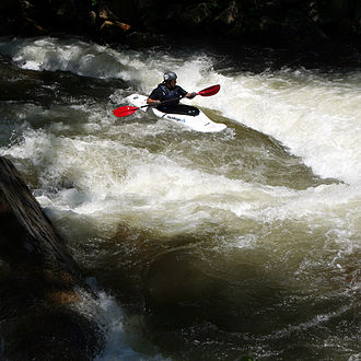 Nantahala River - Playboater on the Nantahala River