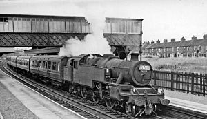 Nantwich railway station - Bank Holiday Special in 1962