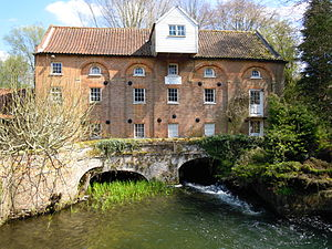 River Nar - Narborough Water Mill was renovated in 1980.