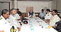 Narendra Modi at a meeting with Navy officers onboard INS Vikramaditya, in Goa on June 14, 2014. The Chief Minister of Goa, Shri Manohar Parrikar and the Chief of Naval Staff, Admiral R.K. Dhowan are also seen.jpg