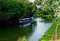 Narrowboat on Wey Navigation near Woodbridge Bridge, Guildford - geograph.org.uk - 1447145.jpg