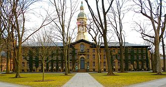 Nassau Hall at Princeton University, one of the world's most prominent research universities Nassau Hall, Princeton.jpg