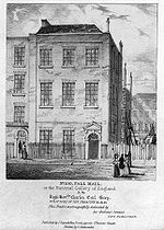 100 Pall Mall, the home of the National Gallery from 1824 to 1834.