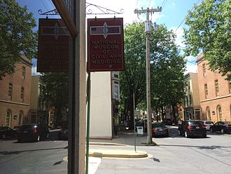 National Museum of Civil War Medicine - Sign in front of the museum