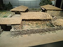 済州特別自治道-文化-National Museum of Ethnology, Osaka - A model of private house in Jeju Island, South Korea
