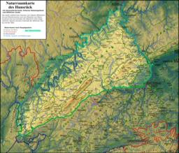 Naturraumkarte Hunsrueck
