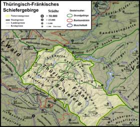 Carte Allemagne Thuringe.Monts De Thuringe Wikipedia