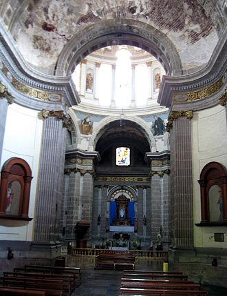 Nuestra Señora de Loreto Church - View of rotunda from nave