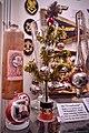 "Nazi Germany SS small Christmas tree (""Frontbaum"") with baubles decorated with Hitler portrait, SS runes, Iron cross symbols (Tatzenkreuz) etc. Lofoten Krigsminnemuseum, Norway (WW2 Memorial Museum) 2019-05-08 DSC00015.jpg"