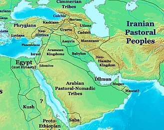 Transjordan (region) - The Near East in 1000 BCE