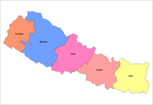Development regions of Nepal - Image: Nepal development regions
