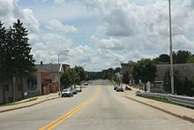 Neshkoro Wisconsin downtown looking south on WIS73.jpg