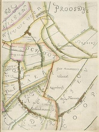 Aarlanderveen - Aarlanderveen on a map of 1611.