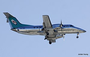 Network Aviation Embraer 120 landing at Perth Airport.jpg