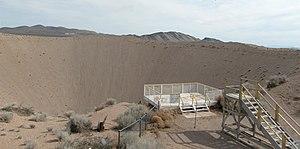 Sedan Crater - Observation decks at Sedan Crater