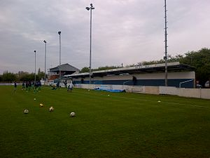 Billericay Town F.C. - Clubhouse, Main Stand and Cow Shed terracing