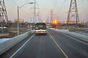 York University Busway - The Hydro Corridor Busway.