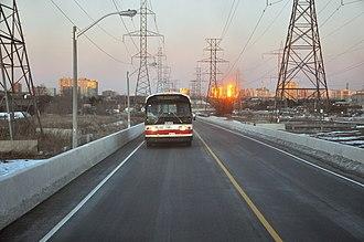 York University Busway - The Hydro Corridor Busway.