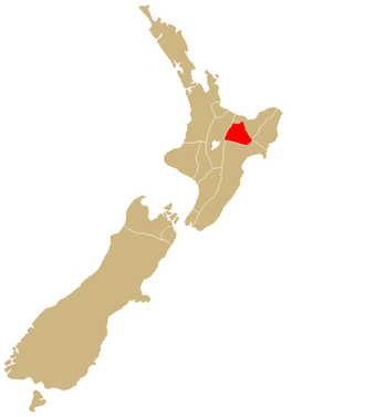 Māori protest movement - Approximate area of the Urewera mountain range.