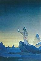 Nicholas Roerich. Agni Yoga. Diptych. Right part