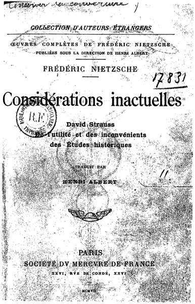 File:Nietzsche - Considérations inactuelles, I.djvu