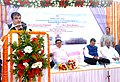 Nitin Gadkari addressing at the foundation stone laying ceremony for Passenger Jetty, at Kanhoji Angre Light House (Island). The Union Minister for Heavy Industries and Public Enterprises.jpg