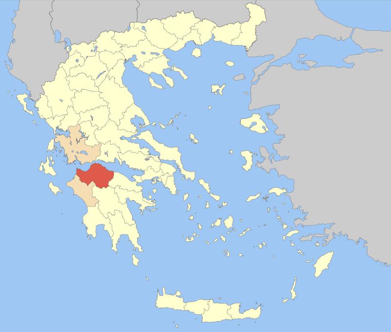 Achaea within Greece