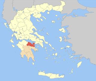 Corinthia Regional unit in Peloponnese, Greece