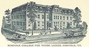 Norfolk College for Young Ladies - Image: Norfolk College for Young Ladies, c. 1887