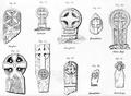 Norse memorial crosses from Douglas Maughold Glen Ray Braddan Kirk Bride.png