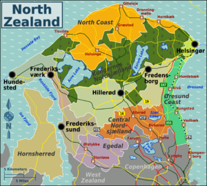 North Zealand - Map of North Zealand