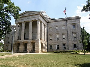 Politics of North Carolina - North Carolina State Capitol