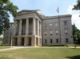 North Carolina General Assembly - North Carolina Capitol, home to the General Assembly from 1840 until 1963