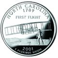North Carolina quarter, reverse side, 2001.jpg
