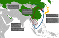 North Korean diaspora and defector routes map.png
