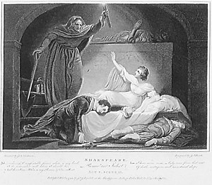 """James Heath (engraver) - Scene from """"Romeo and Juliet (1792, engraving after James Northcote)"""