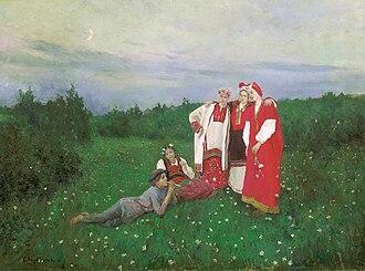 Konstantin Korovin - Image: Nothern idyll by K.Korovin (1886, Tretyakov gallery)