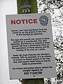 Notice, Owenkillew River - geograph.org.uk - 1559587.jpg